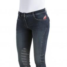 Бриджи женские джинсовые для верховой езды с коленной леей Norchio, Animo