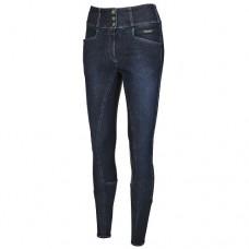 Бриджи женские джинсовые для верховой езды с полной леей Candela Grip, Pikeur
